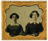 [Two women], ca. 1847-1859, DeGolyer Library, SMU.