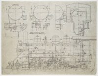 [Port Blakely Mill, Locomotive 1, Erecting Card Drawing No. 6931], 1910, DeGolyer Library, SMU.