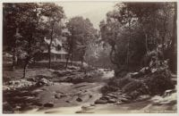 Watersmeet, The Cottage and Streams., ca. 1860-1870 by Francis Bedford, DeGolyer Library, SMU.
