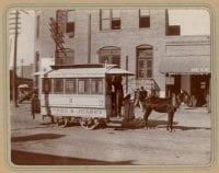 Mule car of only international street railway in the world, El Paso-Juarez, 1902.