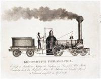 ['Philadelphia' locomotive and tender], 1838