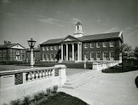 Bridwell Library exterior, Bridwell Library, Perkins School of Theology, SMU.
