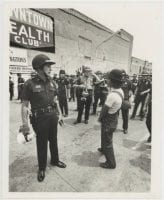[Dallas Police Officers and Demonstrator, March of Justice for Santos Rodriguez], July 28, 1973, DeGolyer Library, SMU.