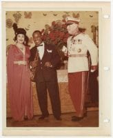 [Jake and Nancy Hamon with Louis Armstrong at 1961 Silent Movies theme party], 1961, Bywaters Special Collections, SMU.