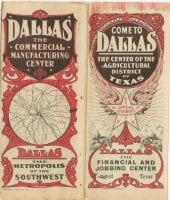Dallas : the commercial manufacturing center ... : come to Dallas, the center of the agricultural district of Texas, ca. 1910, DeGolyer Library, SMU