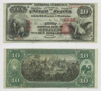 United States $10.00 (ten dollars) national currency, July 15th, 1881, DeGolyer Library, SMU.