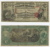 United States $100.00 (one hundred dollars) national currency, 1871, DeGolyer Library, SMU.