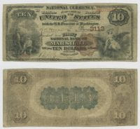 United States $10.00 (ten dollars) national currency, 1884, DeGolyer Library, SMU.
