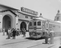 First run of Santa Fe No.192 and 191 RDC Rail Diesel cars..., May 21, 1952 by Richard Steinheimer, DeGolyer Library, SMU.
