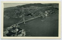 Airplane View of the Golden Gate Bridge, San Francisco, ca. 1943, DeGolyer Library, SMU.
