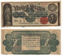 Exchange Hotel $3.00 (three dollars) private scrip, 1860, DeGolyer Library, SMU.