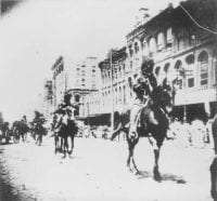 Parade, opening of State Fair of Texas, 1893, DeGolyer Library, SMU.