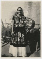 Tehuana girl from the Isthmus of Tehuantepec in the South of Mexico., ca. 1930s-1950s, DeGolyer Library, SMU.