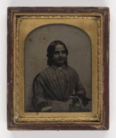 [Smiling Woman with Book], Ca. 1847, DeGolyer Library, SMU.