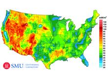 SMU 2011 US Heat Flow Map