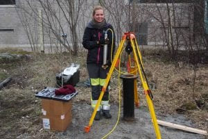 ASIR deploying instruments as part of the seismic monitoring array, st1, Espoo, Finland.
