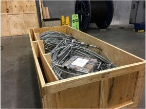 ASIR seismic equipment ready for installation in Finland.