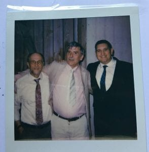 Peter Malin, Peter Leary and Sergio Valenzuela of ASIR at Tero and Jenni Saarno's wedding.