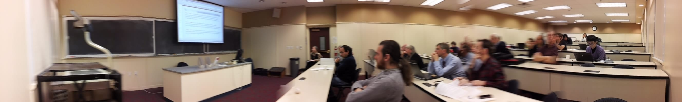 Panorama of the SMU Special Higgs Seminar Viewing Party