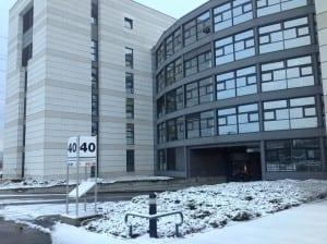Snowfall at CERN