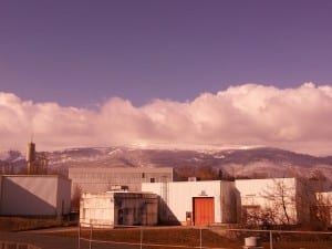 CERN with the snow-capped Jura in the distance