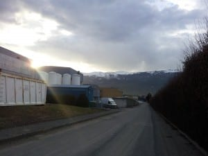 This view was my treat during one of my 5 mile runs through the CERN Meyrin site. It had been a gorgeous day, in the mid-50s F in temperature, with rain rolling in for the evening over the Jura Mountains.