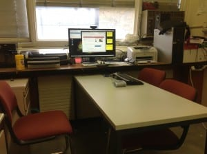 We don't always organize the SMU CERN office, but when we do, we maintain the number of desks while creating a useful space for collaboration.