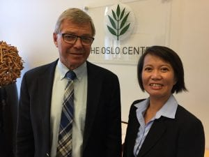 Tower Center Fellow Conducts Interviews in Norway with former prime minister Kjell Magne Bondevik
