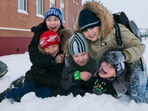 Russian boys in snow 400x300