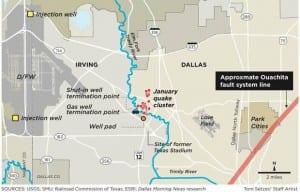 Dallas Morning News, SMU, earthquakes, Irving, Anna Kuchment, Heather DeShon, Brian Stump