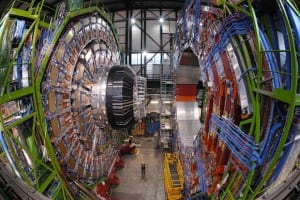 The Large Hadron Collider, the most powerful proton smasher in the world, includes the ATLAS detector, one of the LHC's four particle detectors. (CERN)