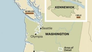 The locale in Washington State where Kennewick Man was discovered in 1996.