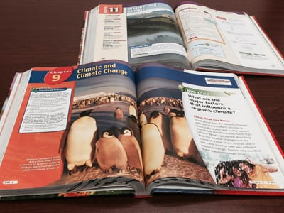 A new study measured how four sixth-grade science textbooks adopted for use in California frame the subject of global warming. (SMU)