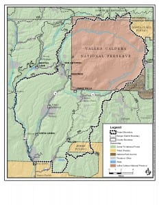 A detailed map of the Southwest Jemez Collaborative Forest Landscape Restoration Project that provided the LiDAR data for the published study (map by the USDA Forest Service, Santa Fe National Forest).