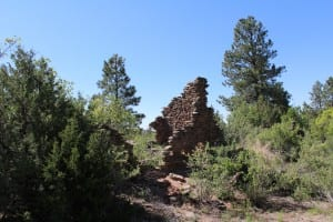 Standing walls at the ruins of an Ancestral Jemez village that was part of the published study. (Roos, SMU)