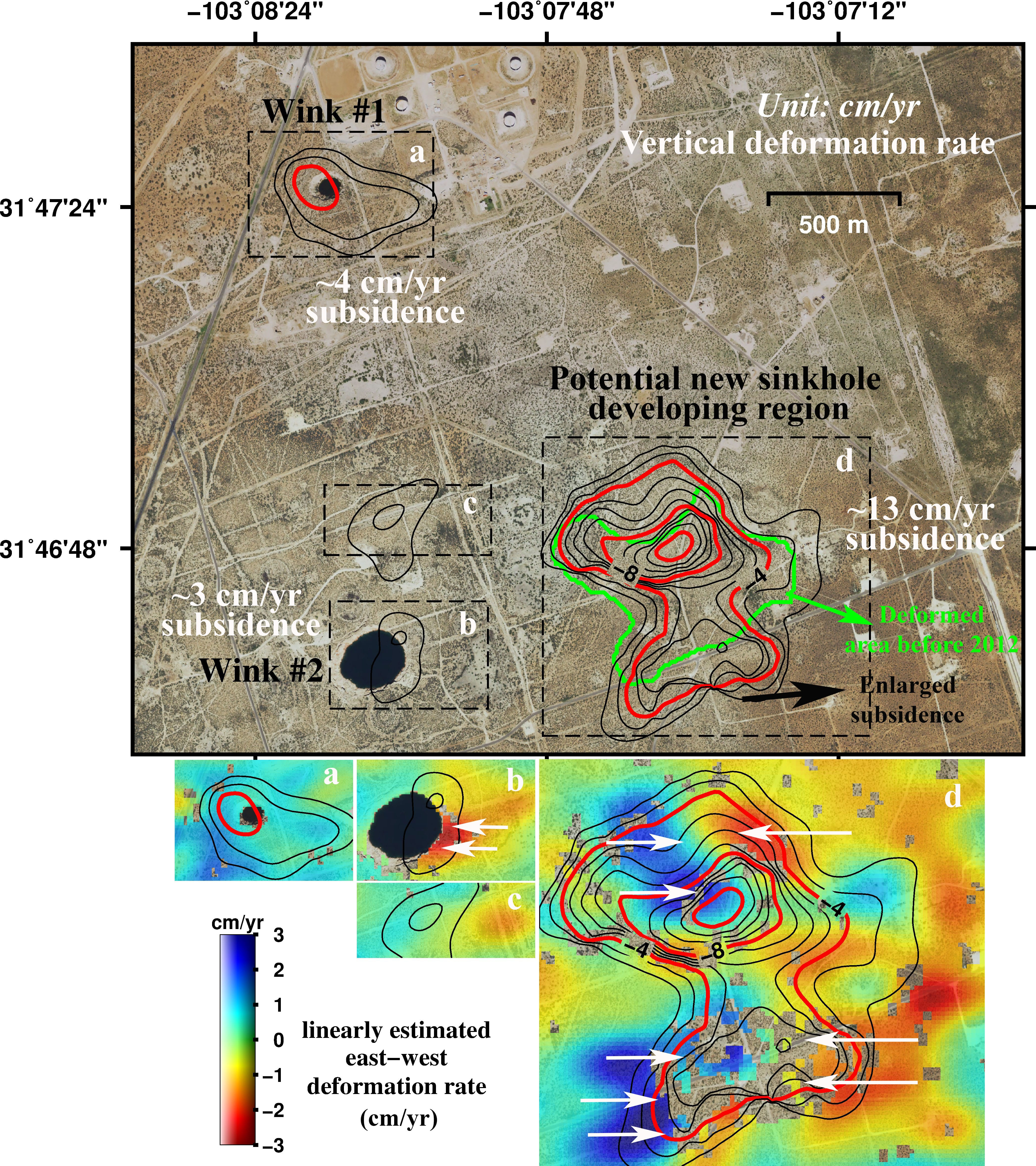 Geohazard Giant Sinkholes Near West Texas Oil Patch Towns Are - Us map winkler climate regions