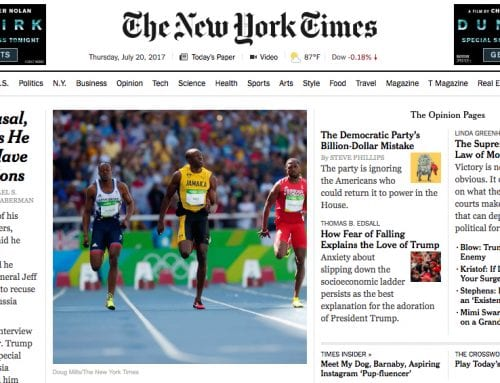 The New York Times: Something Strange in Usain Bolt's Stride