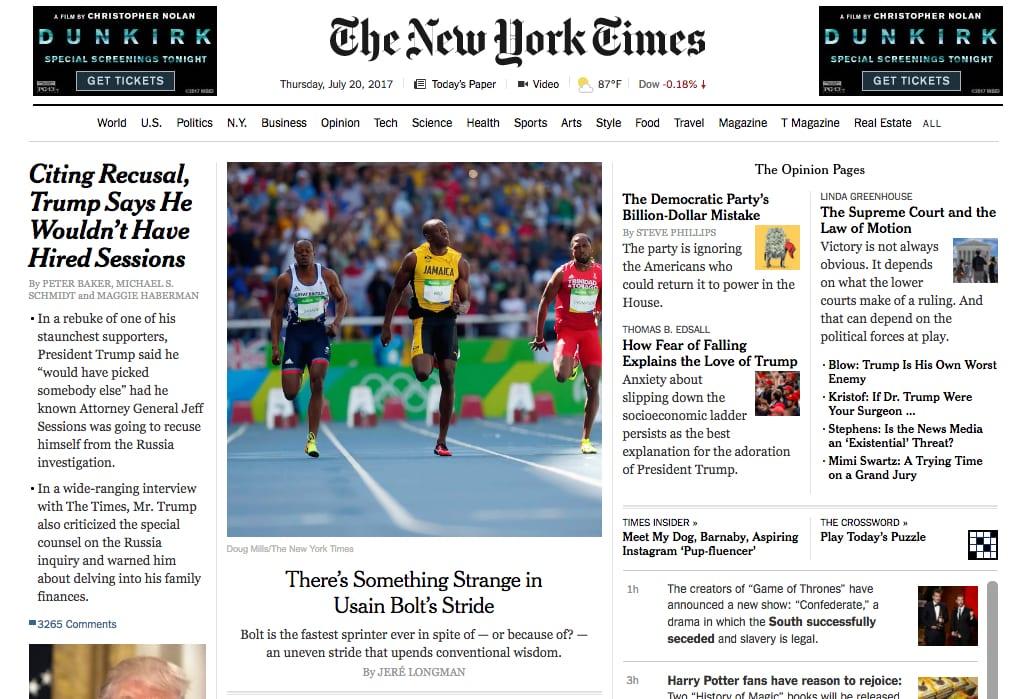 ea314f67ad921f The New York Times  Something Strange in Usain Bolt s Stride – SMU ...
