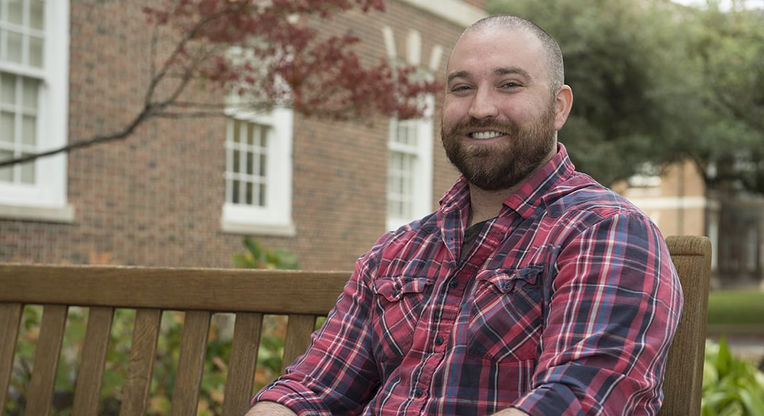 Cyber grad and U.S. Marine Corps vet Michael Taylor proved his mettle as an outstanding student researcher