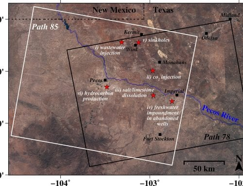 Radar images show large swath of West Texas oil patch is heaving and sinking at alarming rates