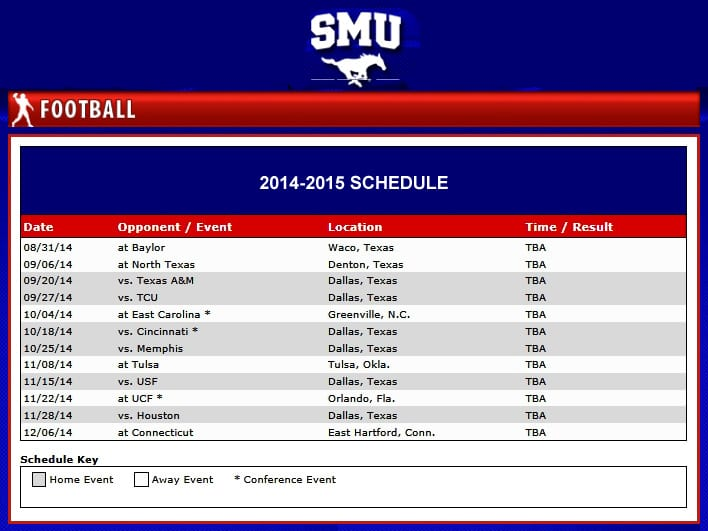 smu-football-schedule-11march2014
