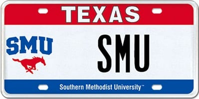 smu-texas-license-plate