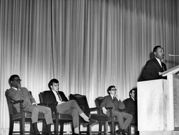 The Rev. Dr. Martin Luther King Jr. spoke at SMU in 1966.