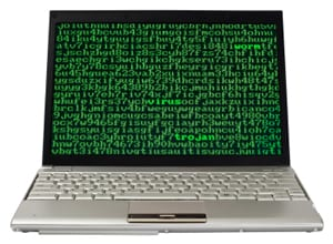 Stock photo: infected laptop
