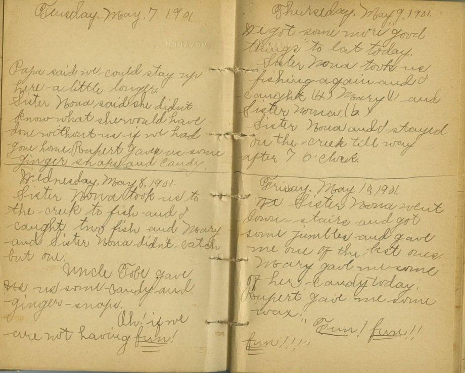 Christina Lettie Amanda Moore Diary, 1901-1902.