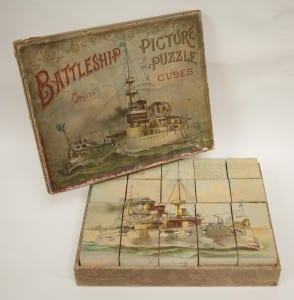 Battleship picture puzzle cubes