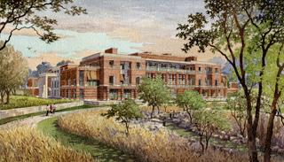 Bush Library, southwest view