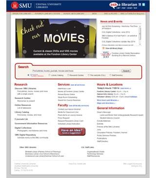 Current CUL website