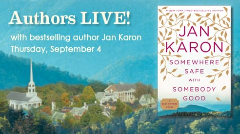 Jan Karon book signing, September 4