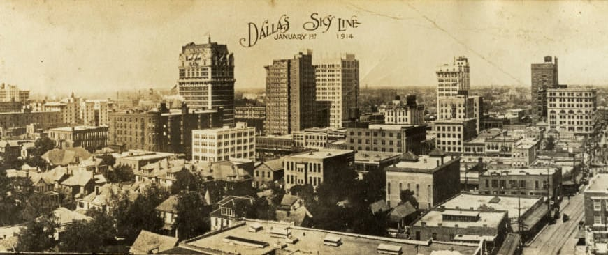Dallas Sky Line, January 1st, 1914